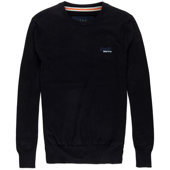 Superdry Orange Label Crew Knit - Black/Navy