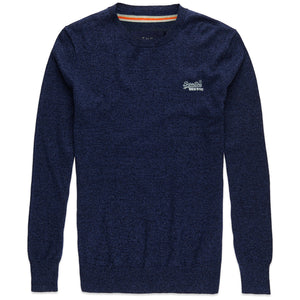 Superdry Orange Label Crew Knit - Dull Navy