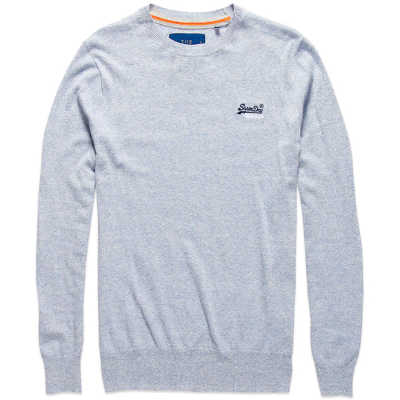 Superdry Orange Label Crew Knit - Egret