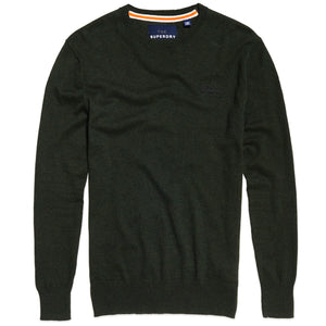 Superdry Orange Label Crew Knit - Evergreen Grit