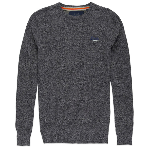 Superdry Orange Label Crew Knit - Steel Twist