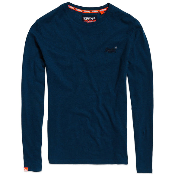 Superdry Orange Label Vintage Embroidery Long Sleeve T-Shirt - Ketion Blue Marl Feeder