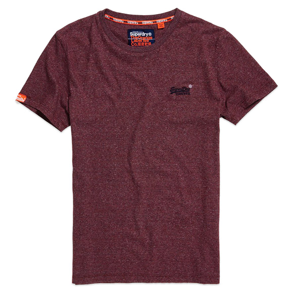 Superdry OL Vintage Embroidery T-Shirt - Creek Red Marl Feeder