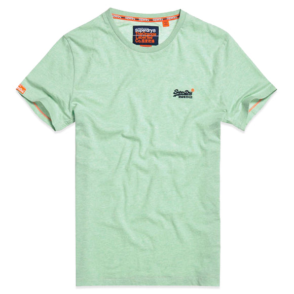 Superdry Orange Label Vintage Embroidery T-Shirt - Spearmint Marl