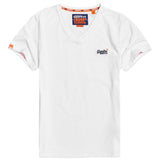 Superdry Orange Label Vintage Embroidery V-Neck T-Shirt - White