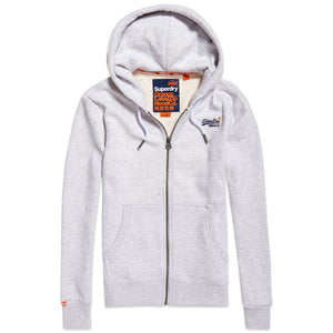 Superdry Orange Label Zip Hood - Ice Marl
