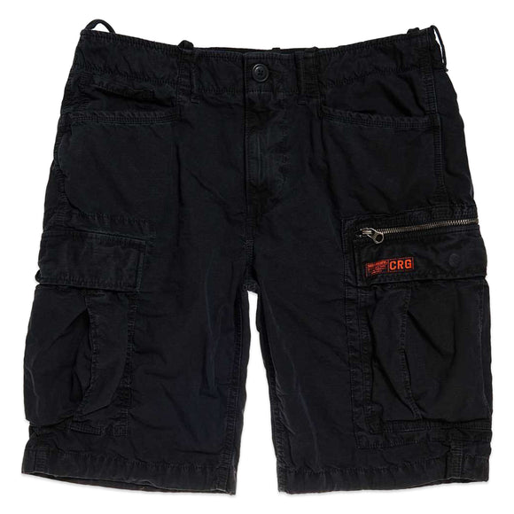 Superdry Parachute Cargo Shorts - Washed Black