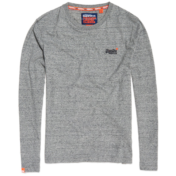 Superdry Orange Label Vintage Embroidery Long Sleeve T-Shirt - Flint Steel Grit