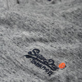 Superdry Orange Label Vintage Embroidery V-Neck T-Shirt - Flint Steel Grit