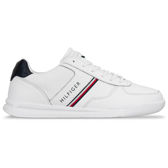 Tommy Hilfiger Lightweight Leather Mix Trainer - White