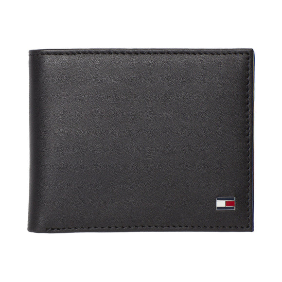 Tommy Hilfiger Eton Small Embossed Bifold Wallet - Black