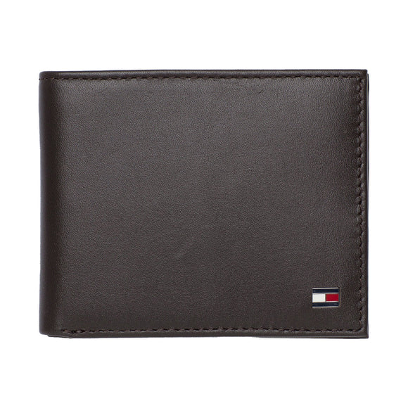 Tommy Hilfiger Eton Small Embossed Bifold Wallet - Brown