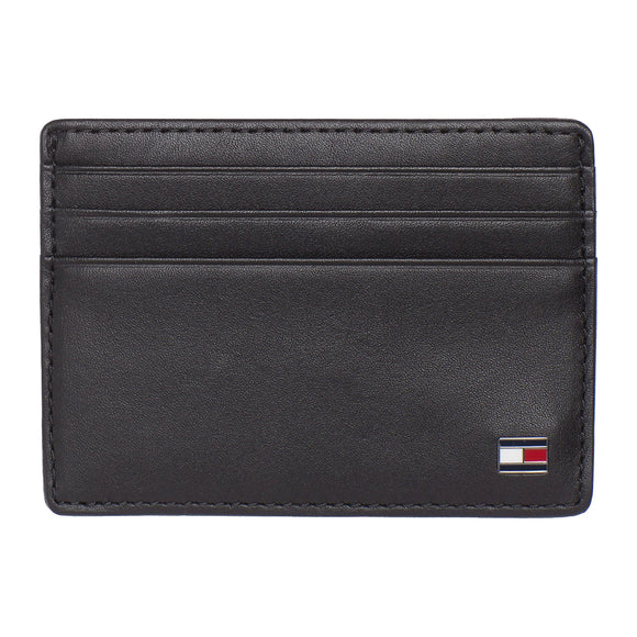 Tommy Hilfiger Eton Leather Card Holder - Black