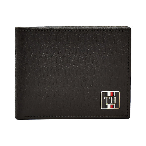 Tommy Hilfiger Small Monogram Wallet - Black