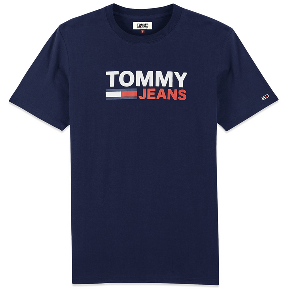 Tommy Jeans Corporate Logo T-Shirt - Navy