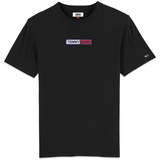Tommy Jeans Embroidered Box Logo T-Shirt - Black