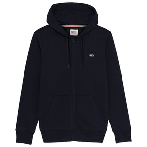 Tommy Jeans Fleece Flag Zip Hood - Twilight Navy