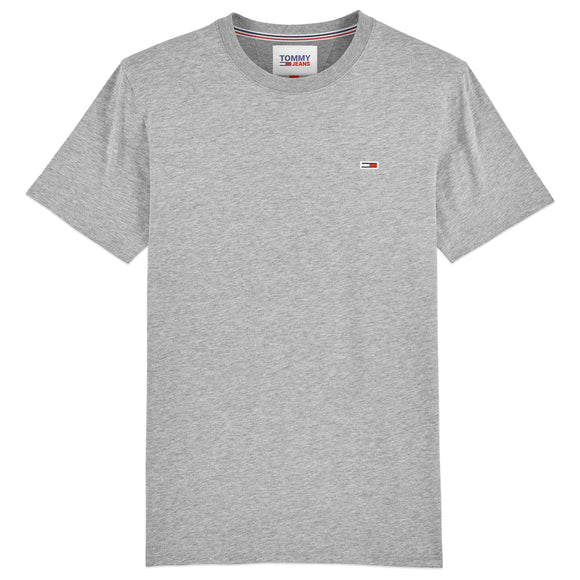Tommy Jeans New Flag T-Shirt - Lt Grey Heather