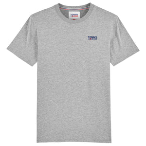Tommy Jeans Small Corporate Logo T-Shirt - Lt Grey Heather