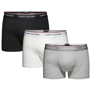 Tommy Hilfiger Cotton Stretch Trunks - Black/Grey/White (3 Pack)