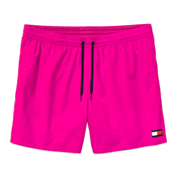 Tommy Hilfiger Drawstring Swim Shorts - Fuchsia Purple