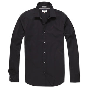 Tommy Hilfiger Original Flag Stretch Long Sleeve Shirt - Black