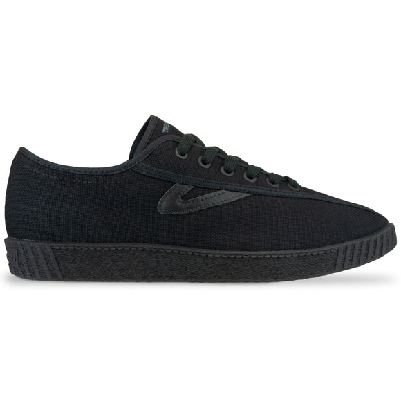 Tretorn Nylite Canvas Trainers - Black/Black