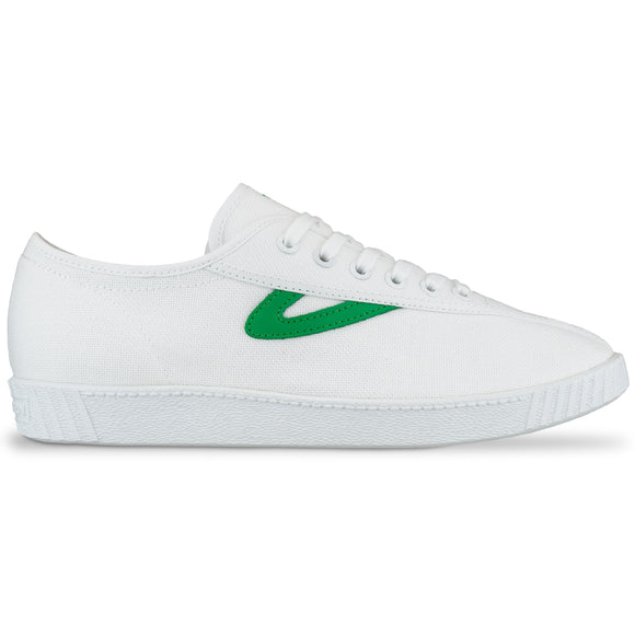 Tretorn Nylite Canvas Trainers - White/Green