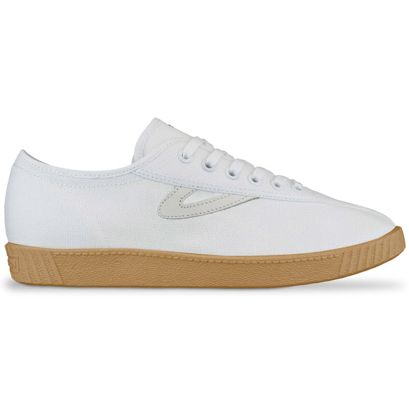 Tretorn Nylite Canvas Trainers - White/Gum