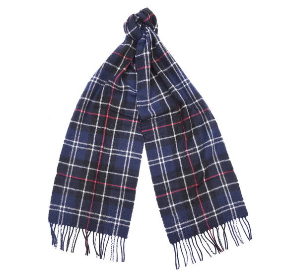 Barbour Tartan Lambswool Scarf - Navy/Red - Arena Menswear