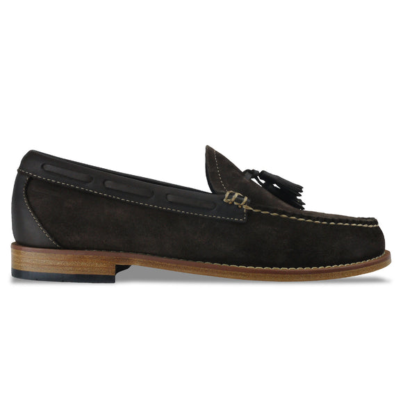 Bass Weejuns Larkin Reverso Loafer - Dark Brown Suede - Arena Menswear