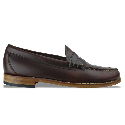 Men's Bass Weejuns Larson Pull Up Loafer - Dark Brown Leather - Arena Menswear