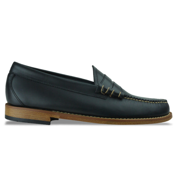Bass Weejuns Larson Pull Up Loafer - Navy Leather - Arena Menswear