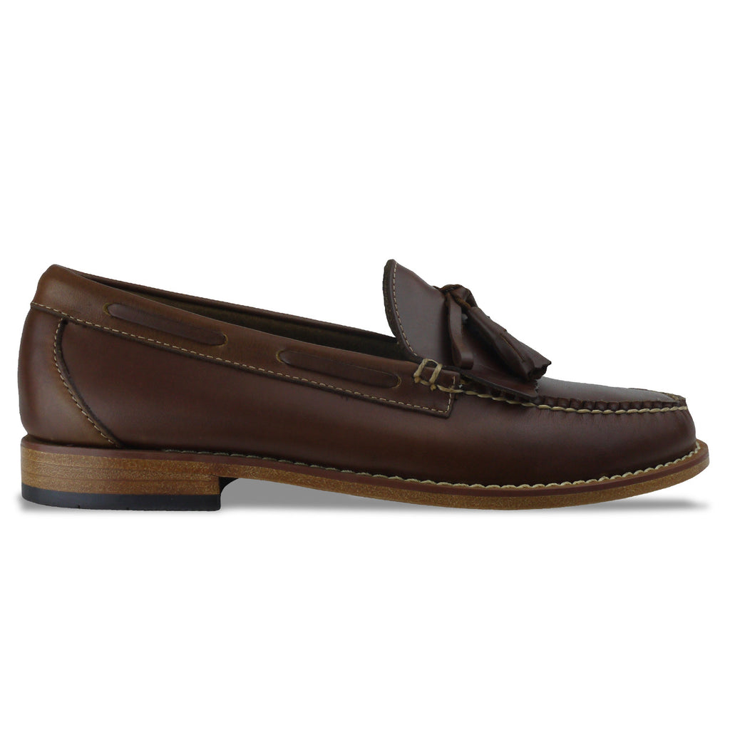 Men's Bass Weejuns Layton Pull Up Loafer - Brown Leather - Arena Menswear