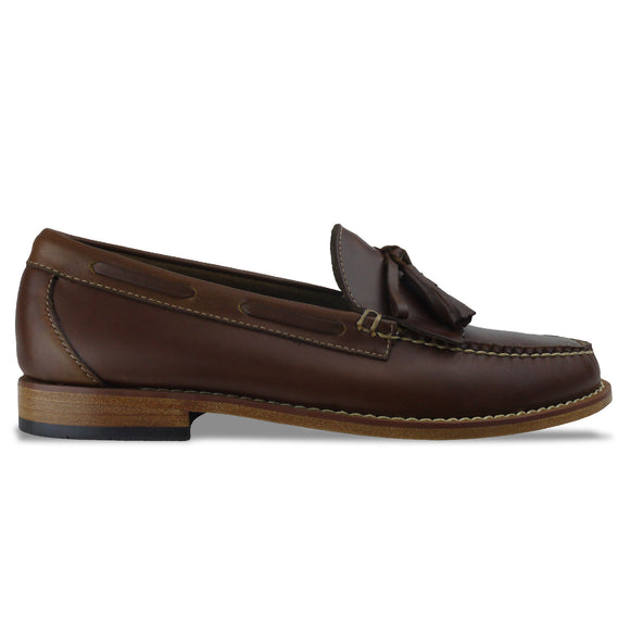 Bass Weejuns Layton Pull Up Loafer - Brown Leather - Arena Menswear