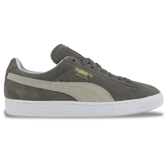 Puma Suede Classic Trainers - Grey/White - Arena Menswear
