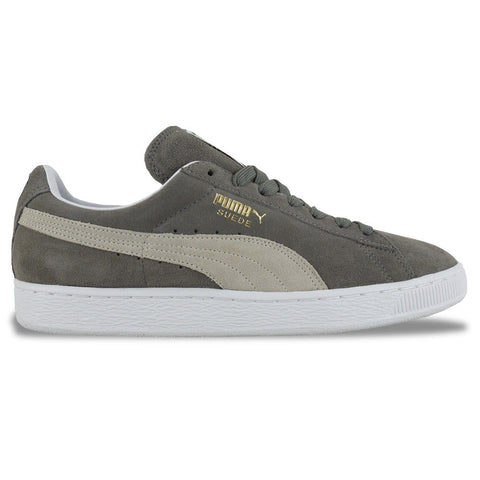 Puma Suede Classic Trainers in Grey/White - Arena Menswear - 1
