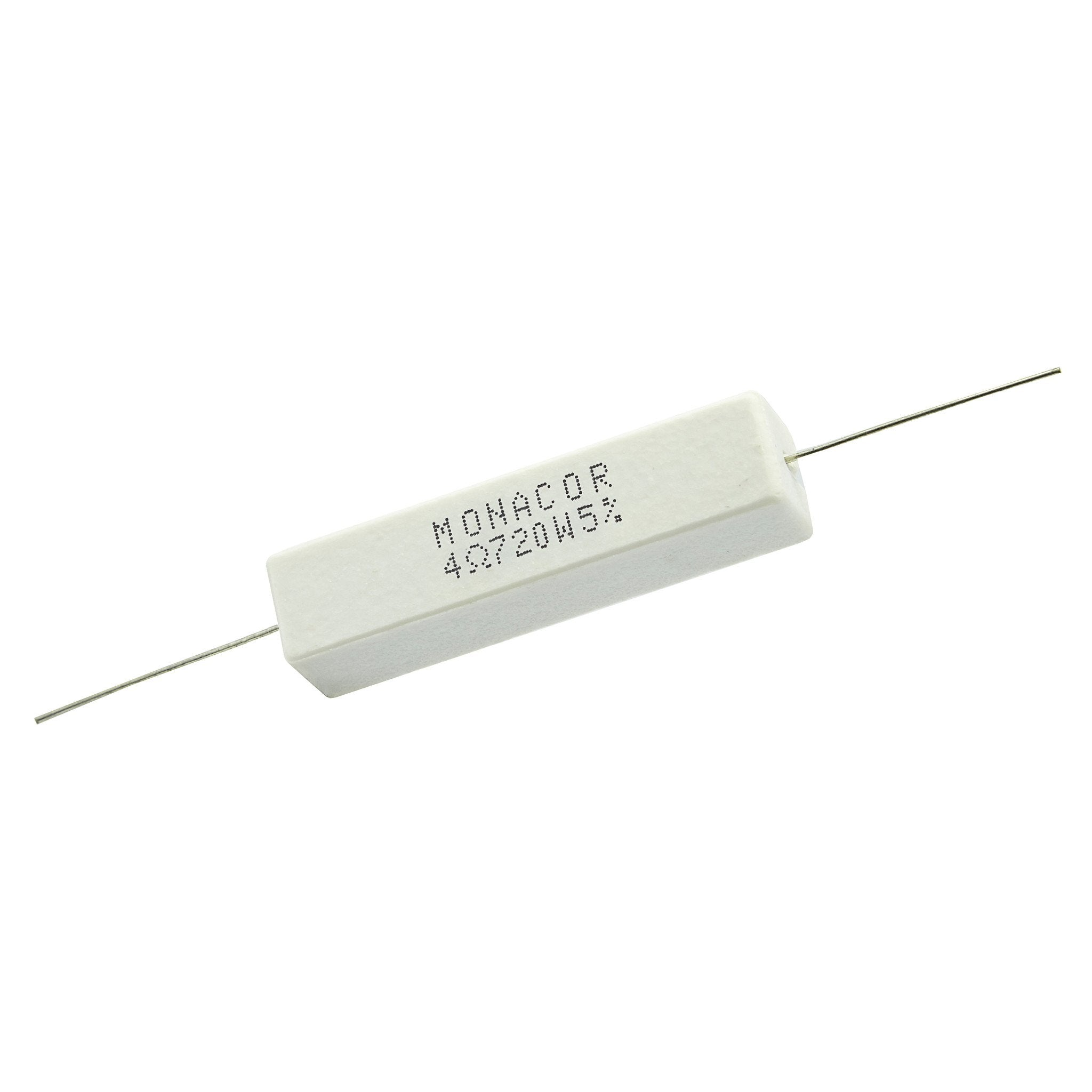 4.7 Ohm 20 Watt 5% Ceramic Wirewound Resistor - Willys-Hifi Ltd