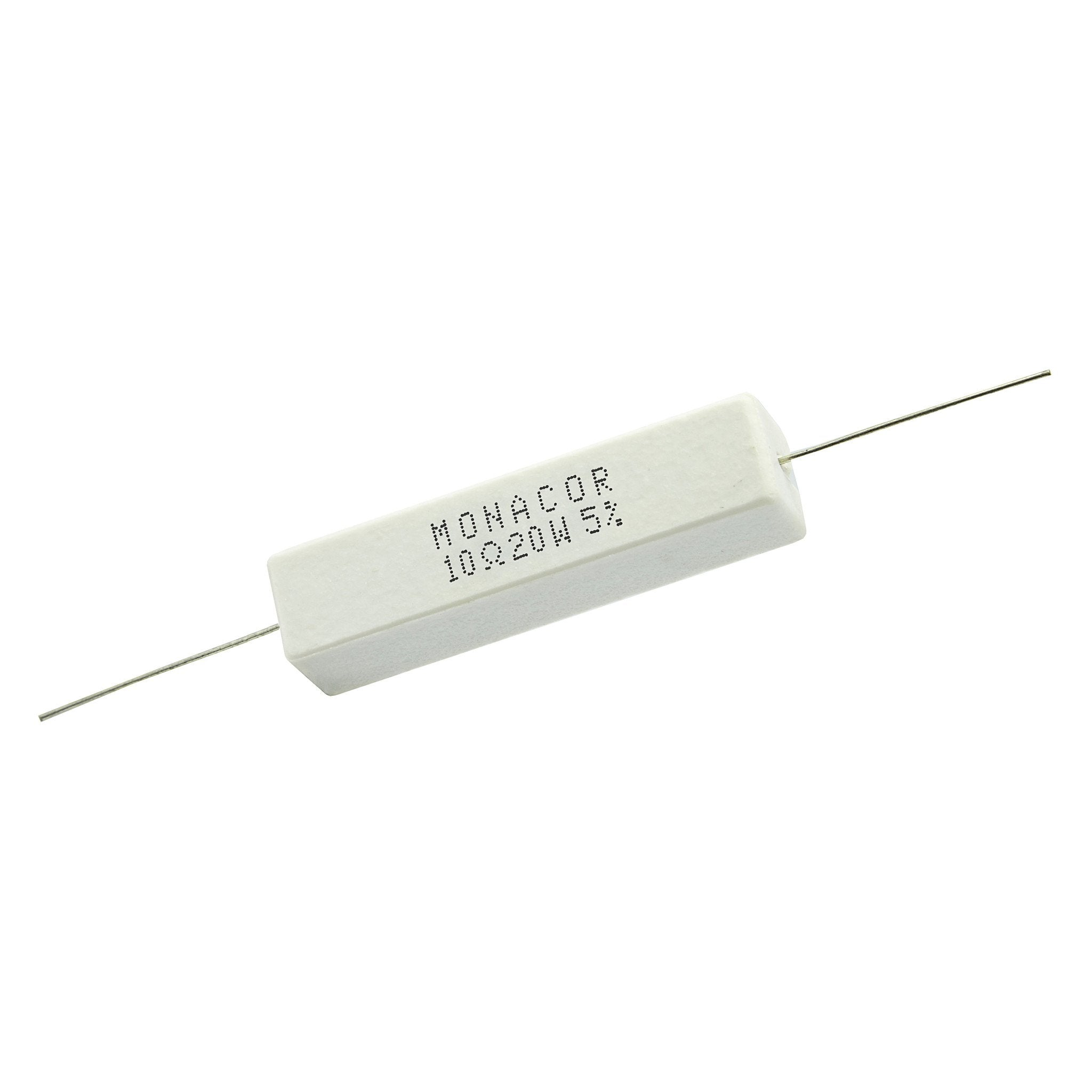 10 Ohm 20 Watt 5% Ceramic Wirewound Resistor - Willys-Hifi Ltd
