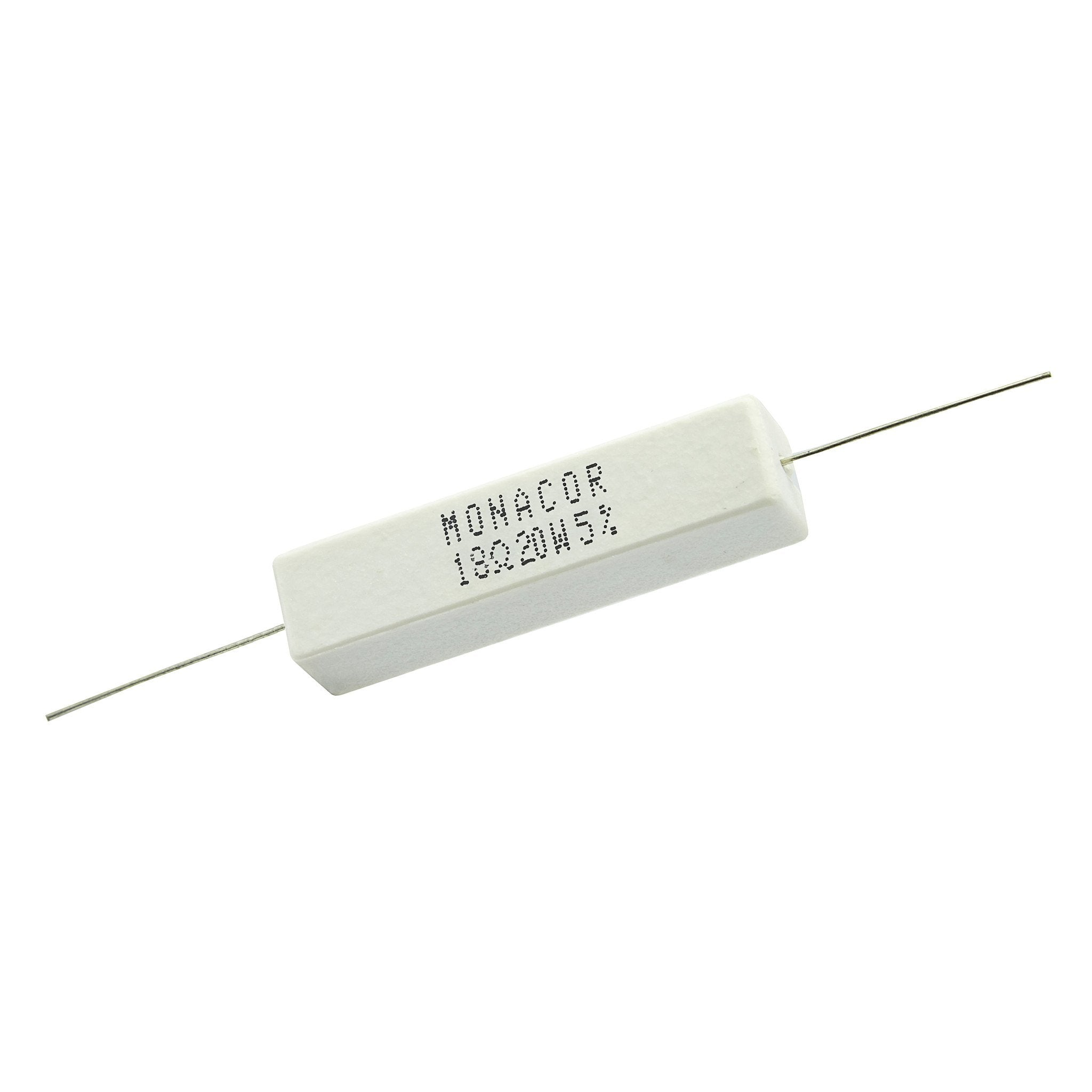 18 Ohm 20 Watt 5% Ceramic Wirewound Resistor - Willys-Hifi Ltd