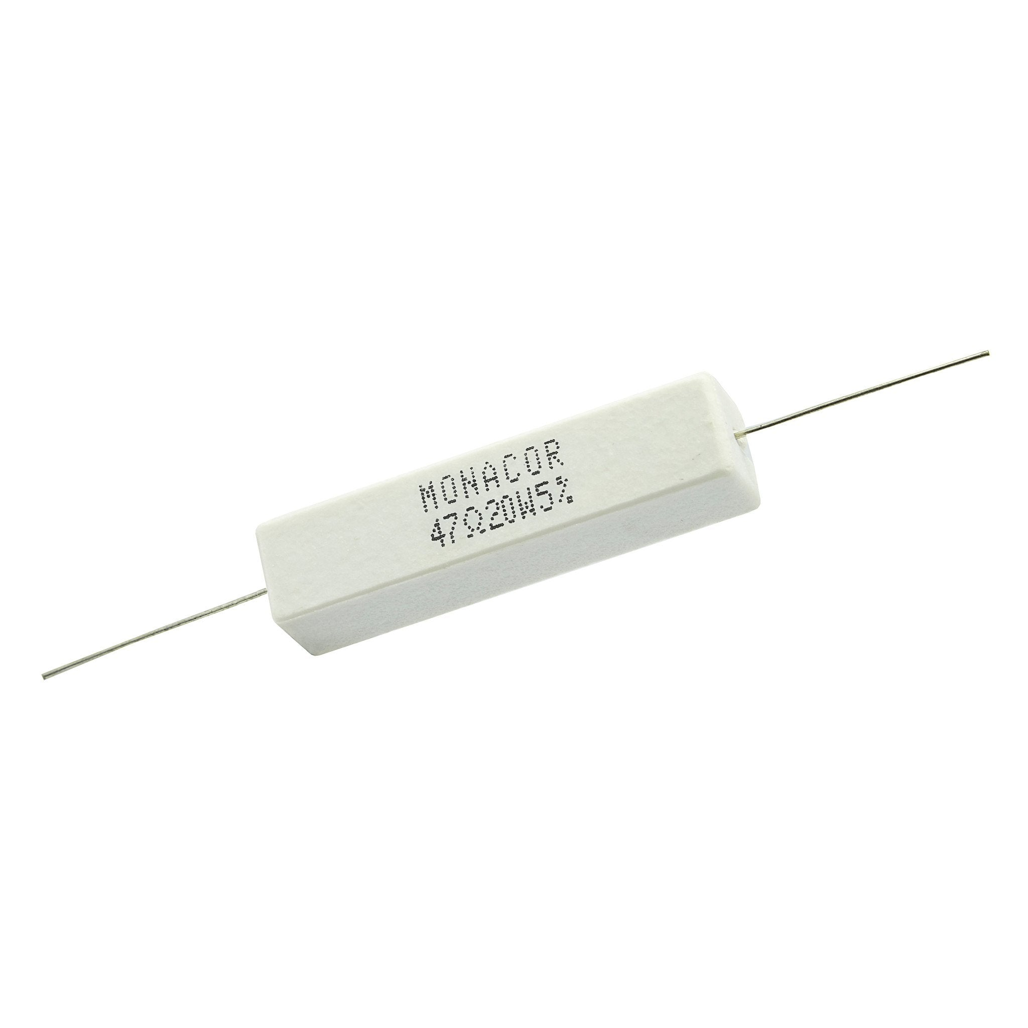 47 Ohm 20 Watt 5% Ceramic Wirewound Resistor - Willys-Hifi Ltd