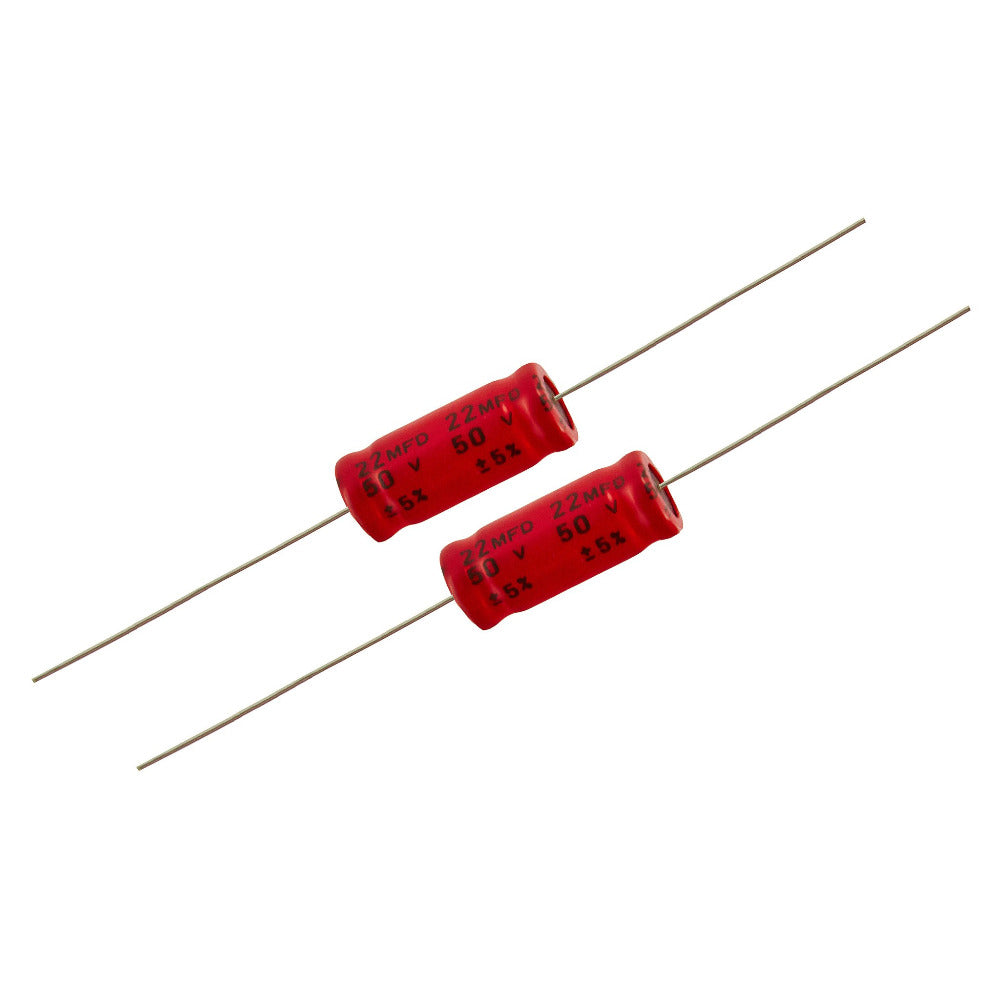 22uf Electrolytic Bipolar Capacitors. - Willys-Hifi Ltd