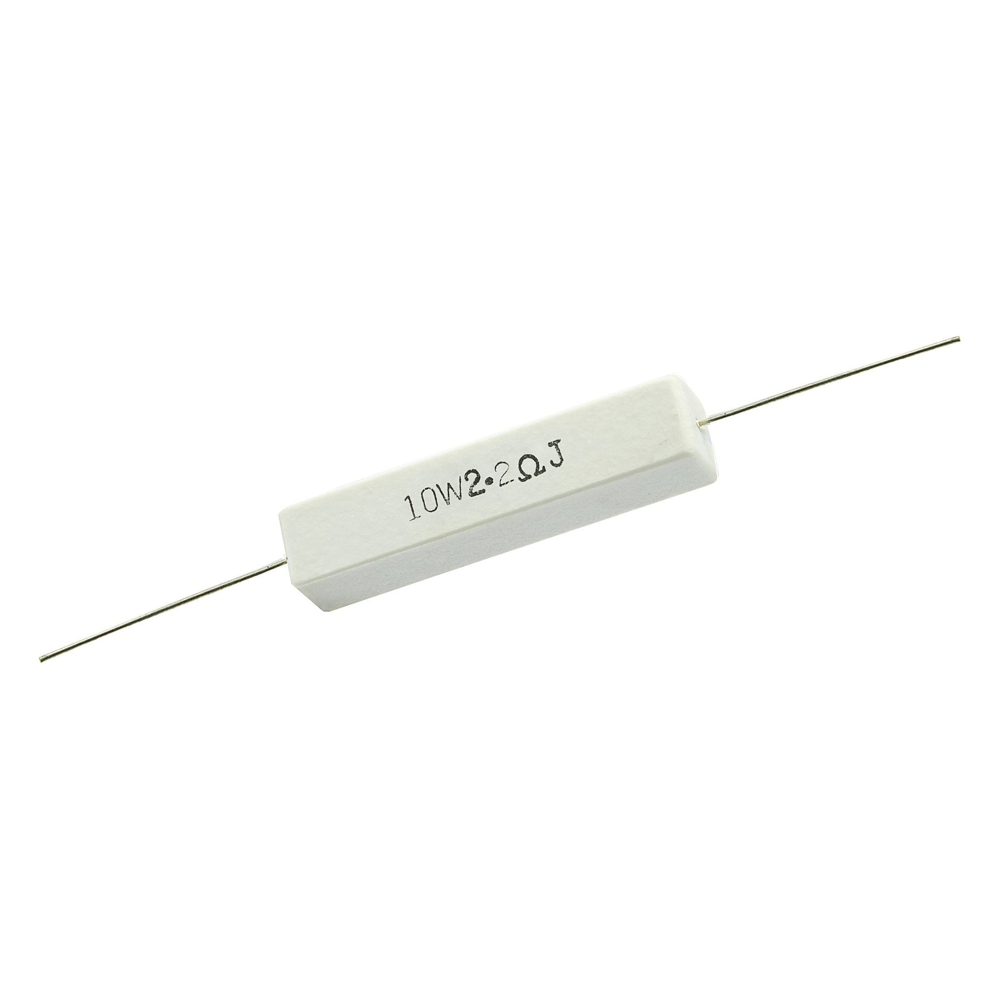 2.2 Ohm 10 Watt 5% Ceramic Wirewound Resistor - Willys-Hifi Ltd