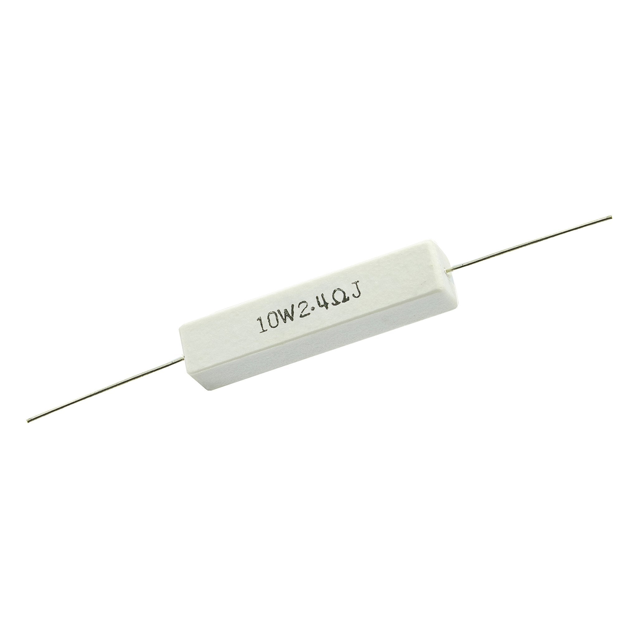 2.4 Ohm 10 Watt 5% Ceramic Wirewound Resistor - Willys-Hifi Ltd