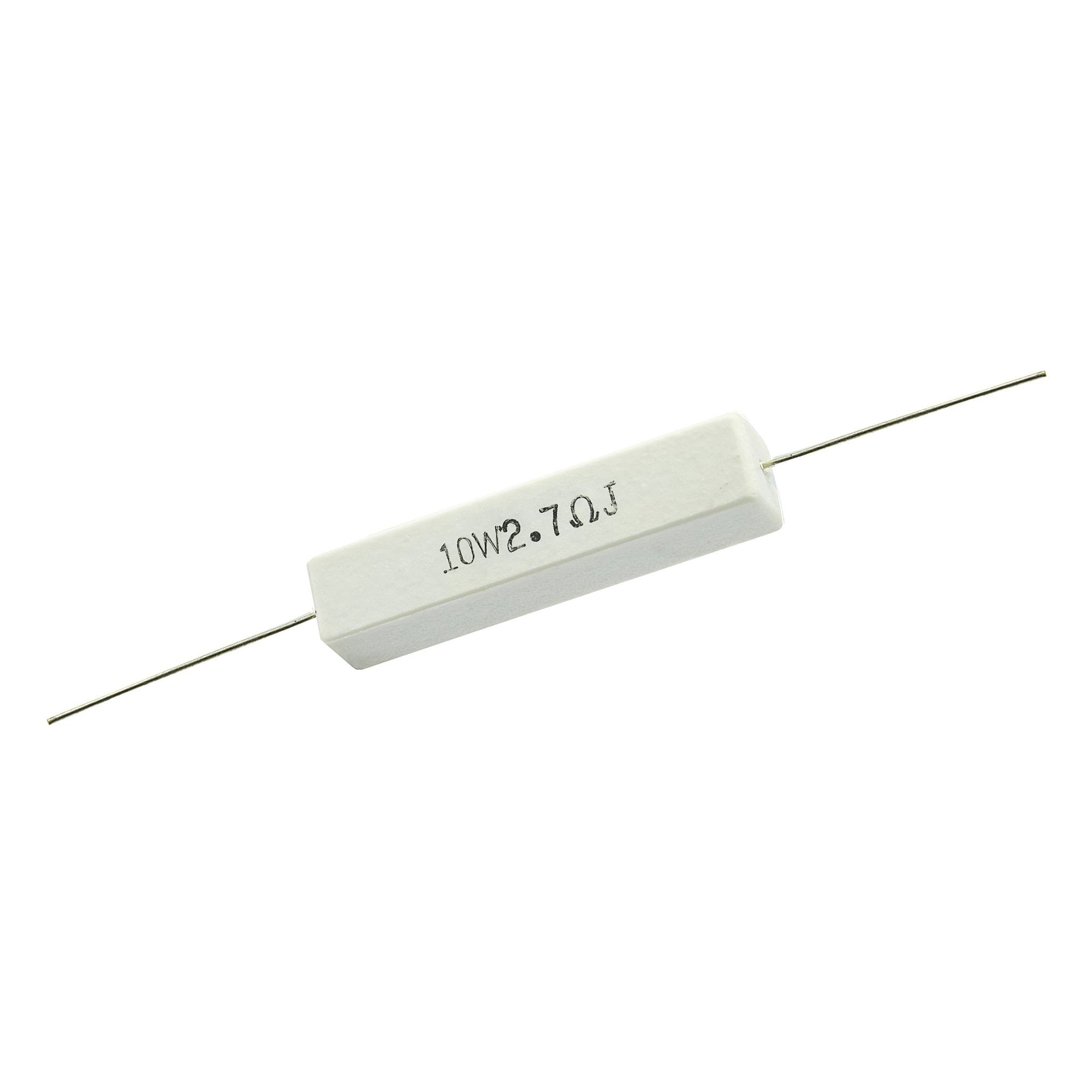 2.7 Ohm 10 Watt 5% Ceramic Wirewound Resistor - Willys-Hifi Ltd
