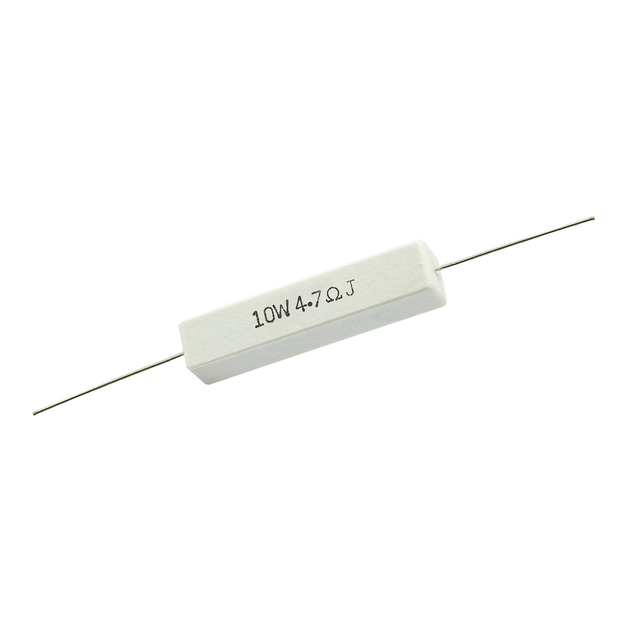 4.7 Ohm 10 Watt 5% Ceramic Wirewound Resistor - Willys-Hifi Ltd