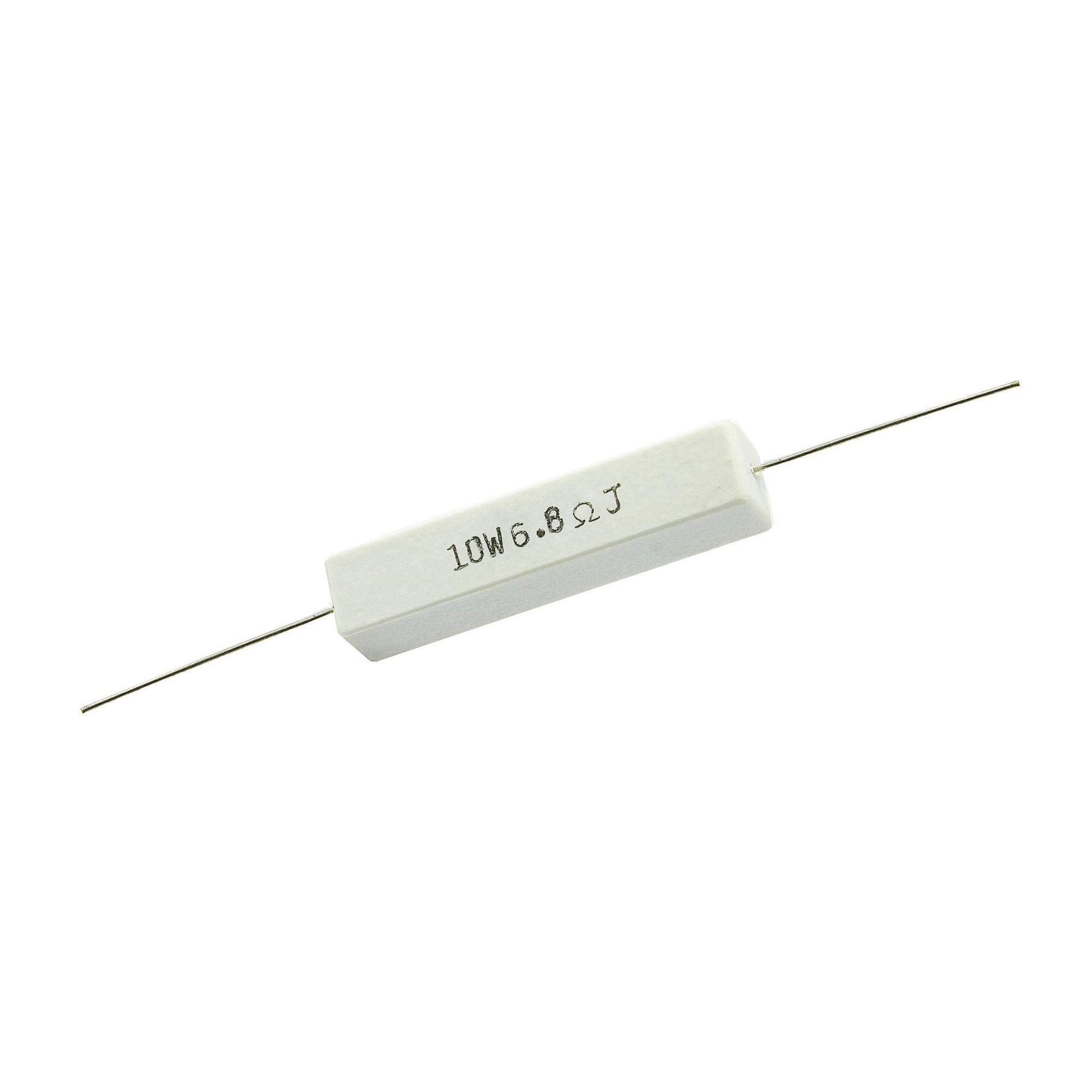 6.8 Ohm 10 Watt 5% Ceramic Wirewound Resistor - Willys-Hifi Ltd