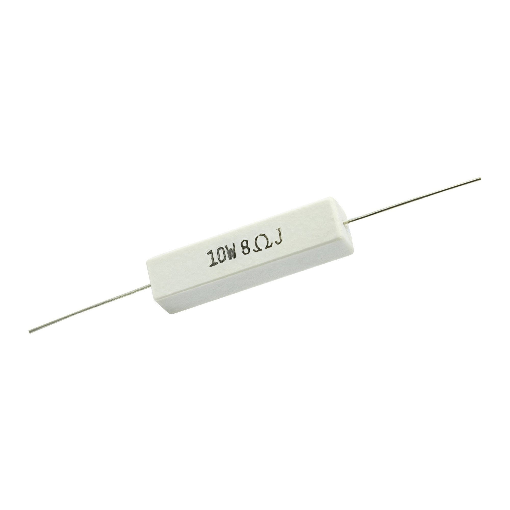 8 Ohm 10 Watt 5% Ceramic Wirewound Resistor - Willys-Hifi Ltd