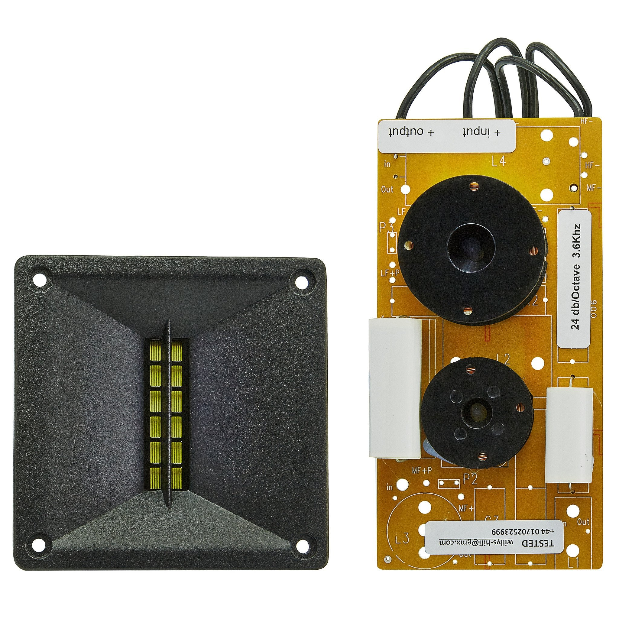 monacor rbt 1000 ribbon tweeter with crossover
