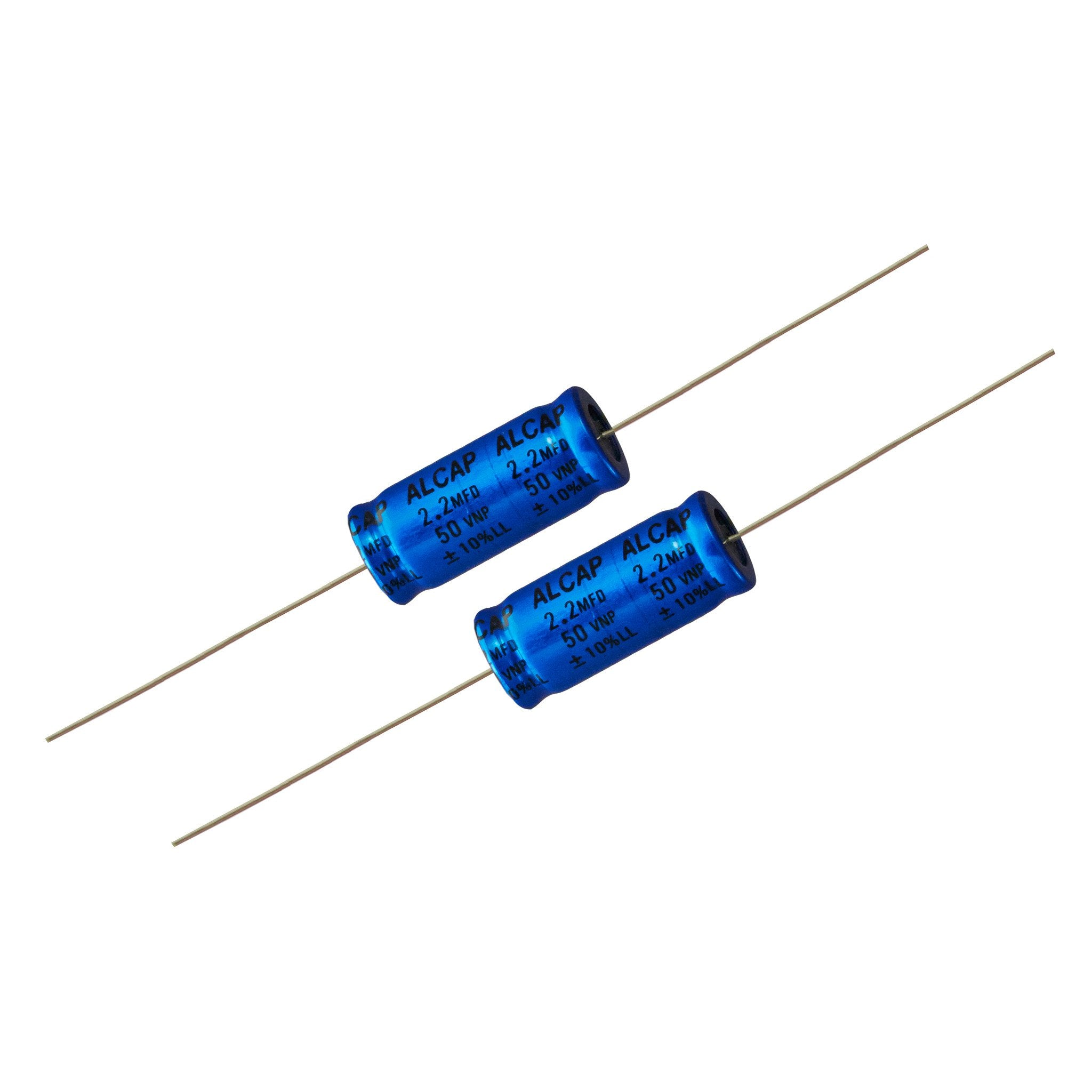 ALCAP 2.2uf Electrolytic Bipolar Capacitors - Willys-Hifi Ltd